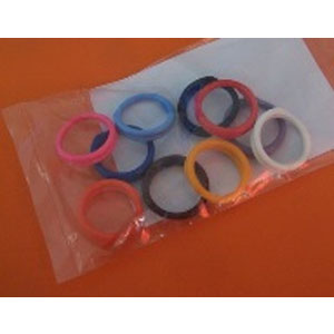 Poultry Leg rings - 19mm spiral - mixed - pk10